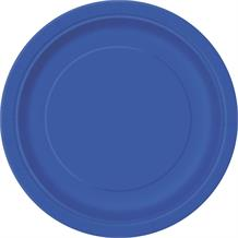 Royal Blue Party Cake Plates
