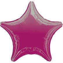 "Anagram Hot Pink Unpackaged Plain Coloured Star 18"" Foil 