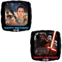 "Star Wars The Force Awakens Happy Birthday Party 18"" Foil Helium Balloon"
