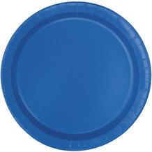 Royal Blue Party Plates (Bulk)