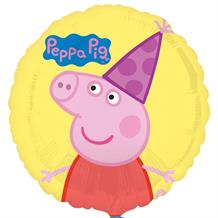 "Peppa Pig Party Hat 18"" Foil 