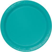 Teal Blue Party Cake Plates