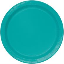 Teal Blue Party Cake Plates (Bulk)