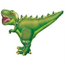 Green T-Rex | Dinosaur Shaped Foil | Helium Balloon