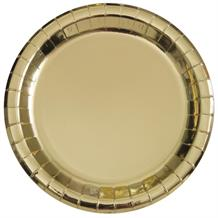 Gold Foil Party 23cm Party Plates
