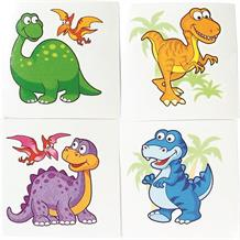 Dinosaur Party Bag Favour Tattoos