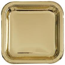 Gold Foil Party 23cm Square Party Plates
