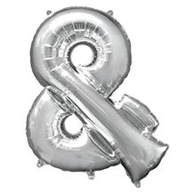 "Anagram 16"" Silver And Symbol Foil Balloon"