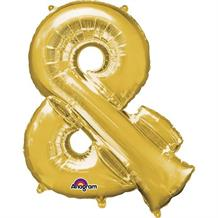 "Anagram 16"" Gold And Symbol Foil Balloon"