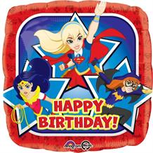 "DC Super Hero Girls Happy Birthday 18"" Foil 