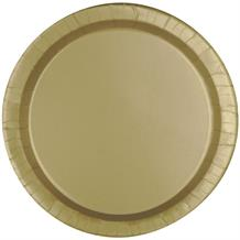 Gold Party Cake Plates