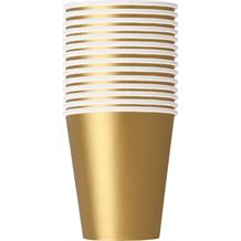 Gold Big Value Catering Party Cups (Bulk)