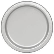 Silver Big Value Catering Party Plates (Bulk)