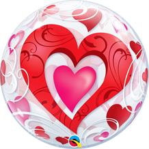 "Love | Red Hearts 22"" Bubble Balloon"