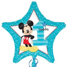 "Mickey Mouse 1st Birthday 18"" Foil 