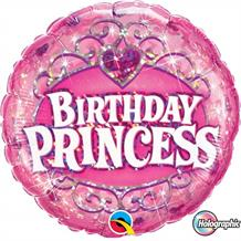 "Holographic Birthday Princess 18"" Foil 