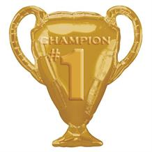 #1 Champion Gold Trophy Shaped Foil | Helium Balloon