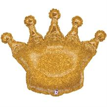 "Gold Glittering Crown Shaped 36"" Foil 