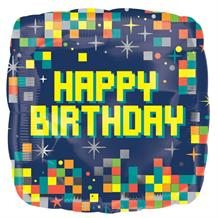 "Happy Birthday Pixel | Retro Gamer 18"" Foil 