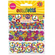 1960's Groovy Party Table Confetti | Decoration