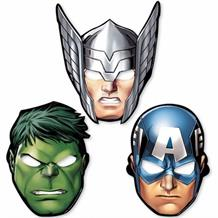 Marvel Avengers Card Party Mask Favours