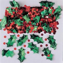 Holly Berries Christmas Party Table Confetti | Decoration
