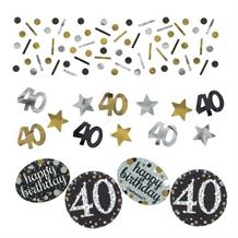 Gold Sparkle 40th Birthday Party Table Confetti | Decoration