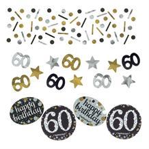 Gold Sparkle 60th Birthday Party Table Confetti | Decoration
