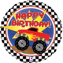 "Monster Truck Happy Birthday 18"" Foil 