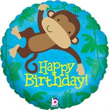 "Monkey Happy Birthday 18"" Foil 
