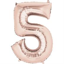 "Anagram Rose Gold 35"" Number 5 Supershape Foil 