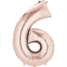 "Anagram Rose Gold 35"" Number 6 Supershape Foil 