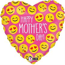 "Emoji Mothers Day Heart 18"" Foil 