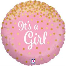 "It's a Girl Confetti Holographic 18"" Foil 