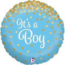 "It's a Boy Confetti Holographic 18"" Foil 