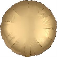 "Anagram Gold Satin Luxe Unpackaged Plain Coloured Circle 18"" Foil 