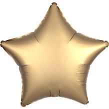 "Anagram Gold Satin Luxe Unpackaged Plain Coloured Star 18"" Foil 