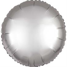 "Anagram Platinum | Grey Satin Luxe Unpackaged Plain Coloured Circle 18"" Foil 