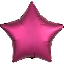 "Anagram Hot Pink | Pomegranate Satin Luxe Unpackaged Plain Coloured Star 18"" Foil 