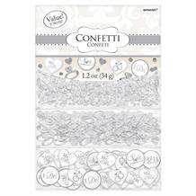 White Wedding 'I Do Confetti' Table Confetti | Decoration