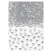 Silver Clear Gem Wedding Table Confetti | Decoration