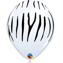 "Zebra Stripes 11"" Qualatex Latex Party Balloons"