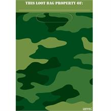 Army Camouflage Party Favour Loot Bags