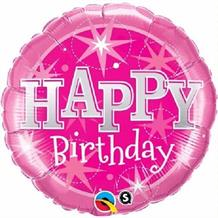 "Pink Sparkle Happy Birthday 18"" Foil 