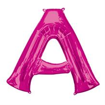 "Anagram 16"" Pink Letter A Foil Balloon"