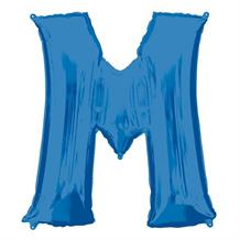 "Anagram 16"" Blue Letter M Foil Balloon"