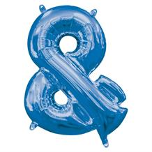 "Anagram 16"" Blue And Symbol Foil Balloon"