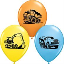 Construction Trucks | Diggers Party Latex Balloons