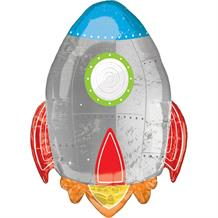 "Space Rocket 29"" Shaped Foil Helium Balloon"