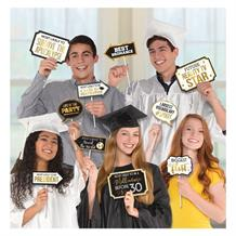 Graduation Gold Party Photo Booth Party Props